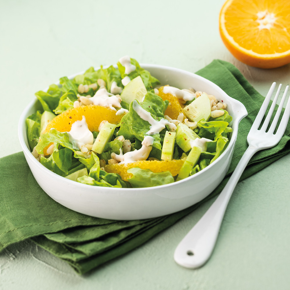 Salade de blé à l'orange