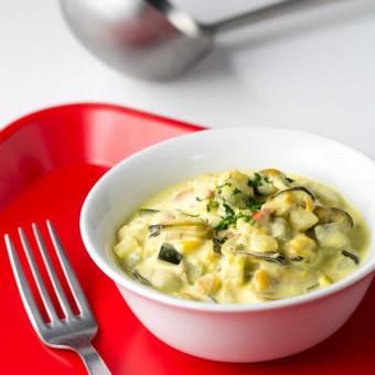Méli-mélo de moules aux petits légumes