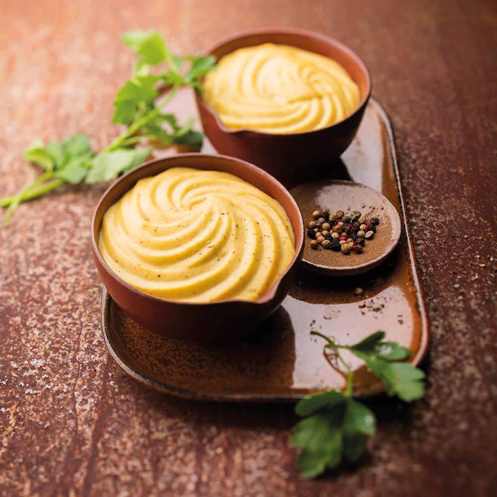 Gratin de butternut et pommes de terre mixé