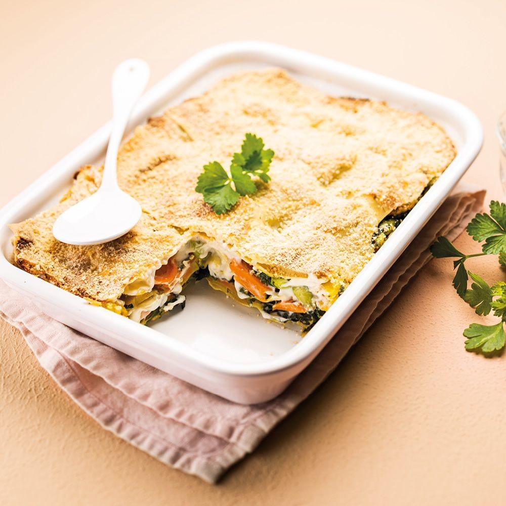 Lasagne végétarienne aux épinards et carottes