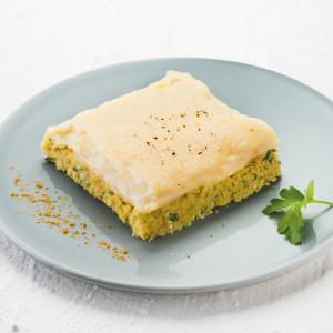 Parmentier de colin au curry en texture mixée