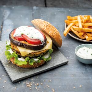 Burger végétarien aux aubergines