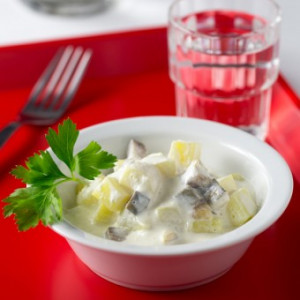 Salade de pommes de terre et harengs à la vinaigrette alsacienne