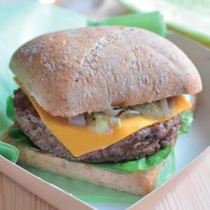 Burger brasserie boeuf échalote