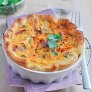 Quiche feuilletée carottes-curry