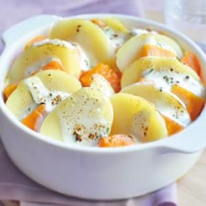 Gratin de potiron / pommes de terre