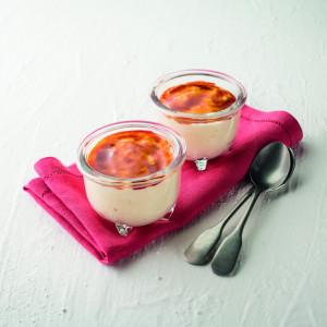 Crème Catalane texture mixée