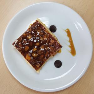 Clafoutis abricot texture mixée