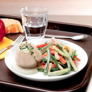 Roulé de Flétan et petits légumes