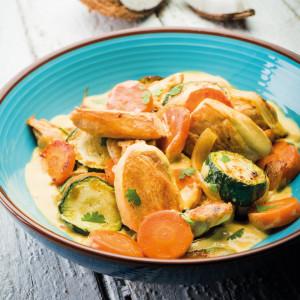 Wok de poulet asiatique coco