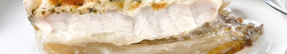 Filet de merlu braisé et ses endives