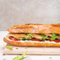 Sandwich poulet crudités