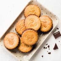 Galettes bretonnes ganache chocolat praliné