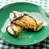Cannellonis d'aubergine grillée