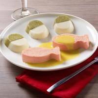Saumon rôti, beurre blanc aux agrumes, chou-fleur et brocoli Manger Mains