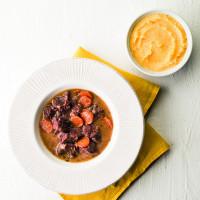 Estouffade de bœuf et polenta crémeuse