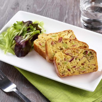 Cake jambon-olives texture entière