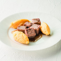 Estouffade de bœuf et polenta crémeuse texture mixée