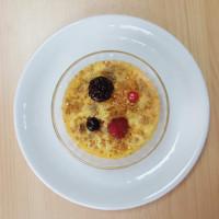 Crème brulée au spéculos texture mixée